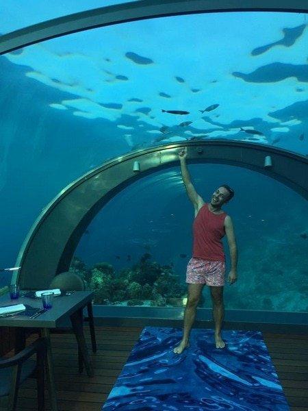 Restoran ispod mora Hurawali Maldivi