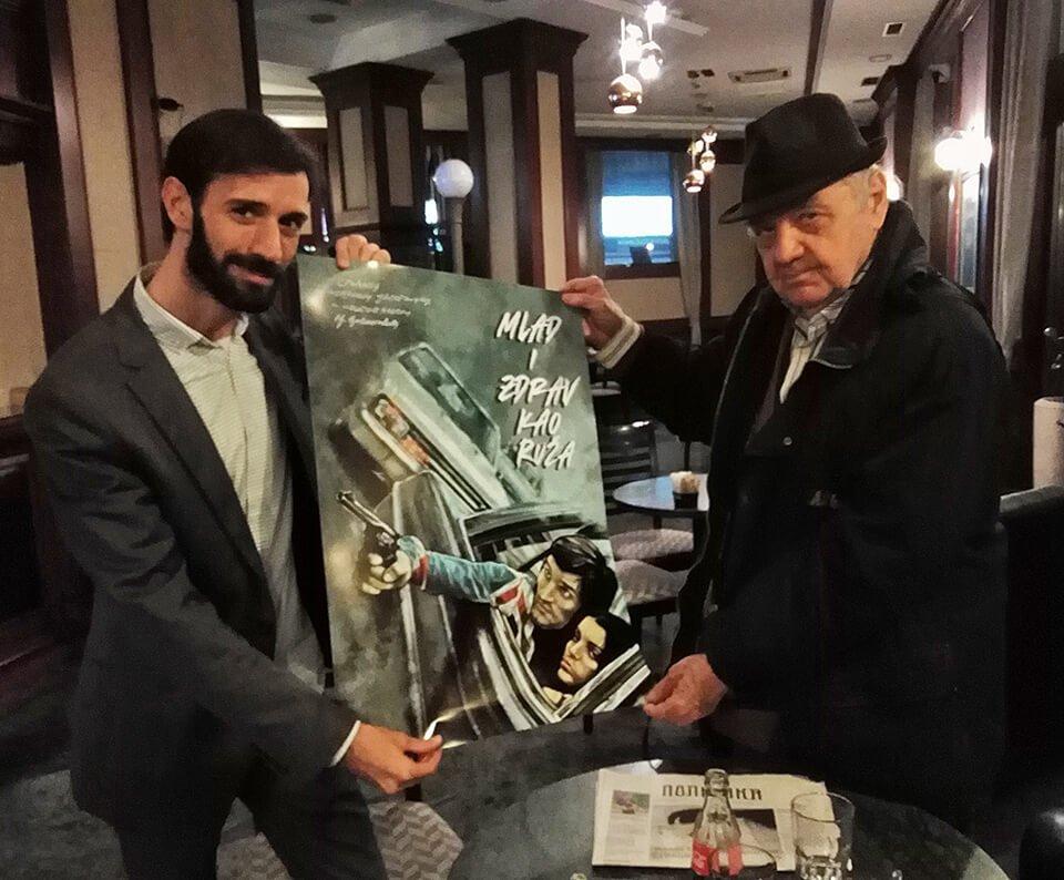 Joca Jovanovic prima plakat Mlad i zdrav kao ruza