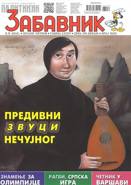 Portret lautiste Edina Karamazova za Zabavnik